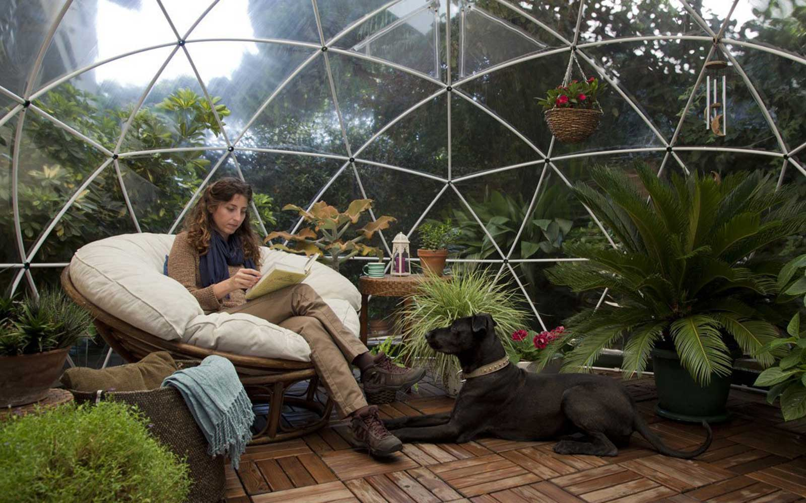 This Stunning Garden Dome Is Perfect for Backyard Glamping