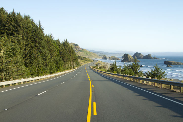 Highway 101 along the Oregon Coast.