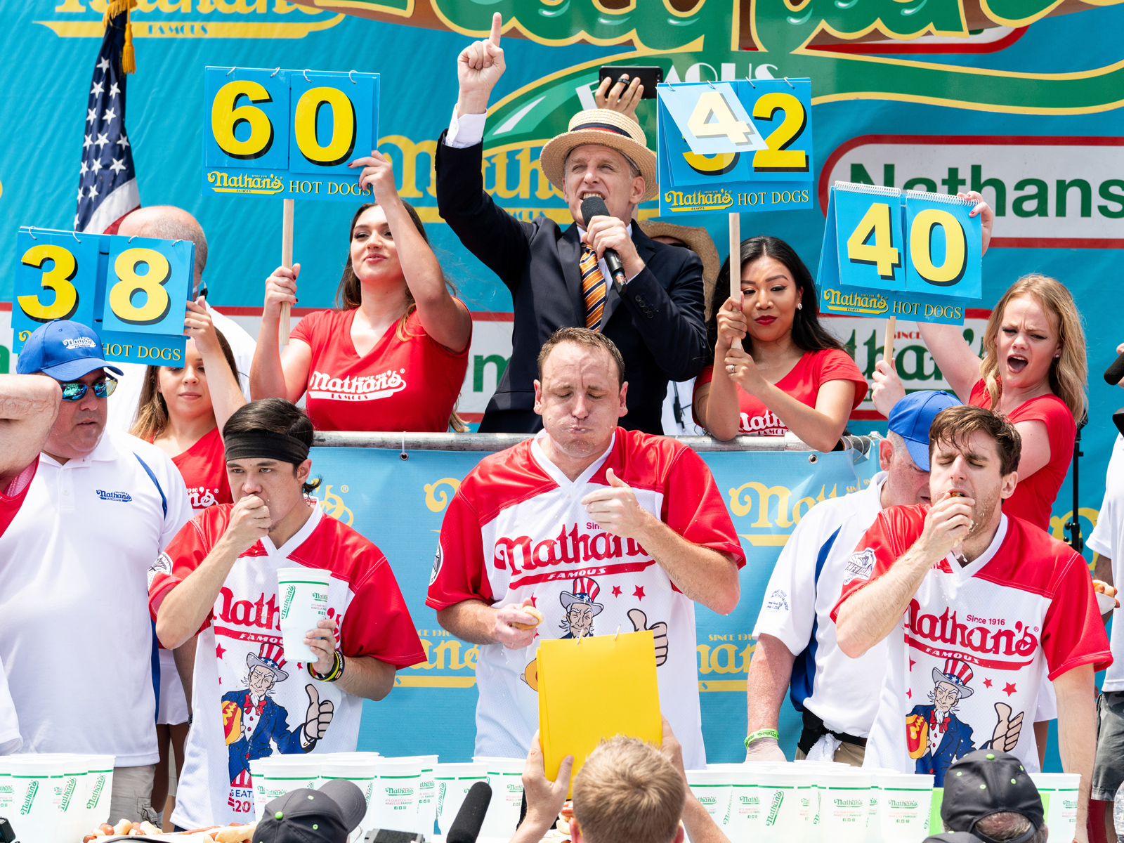 New Jersey Nixes Betting on Nathan's Hot Dog Eating Contest