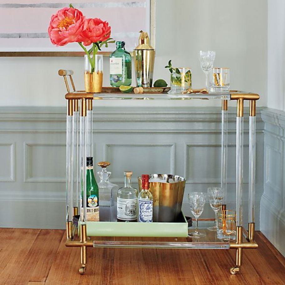 10 Bar Carts for the Perfect Cocktail Setup