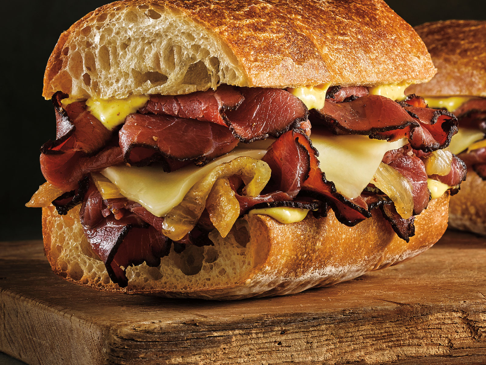 Toasted Pastrami Sandwich