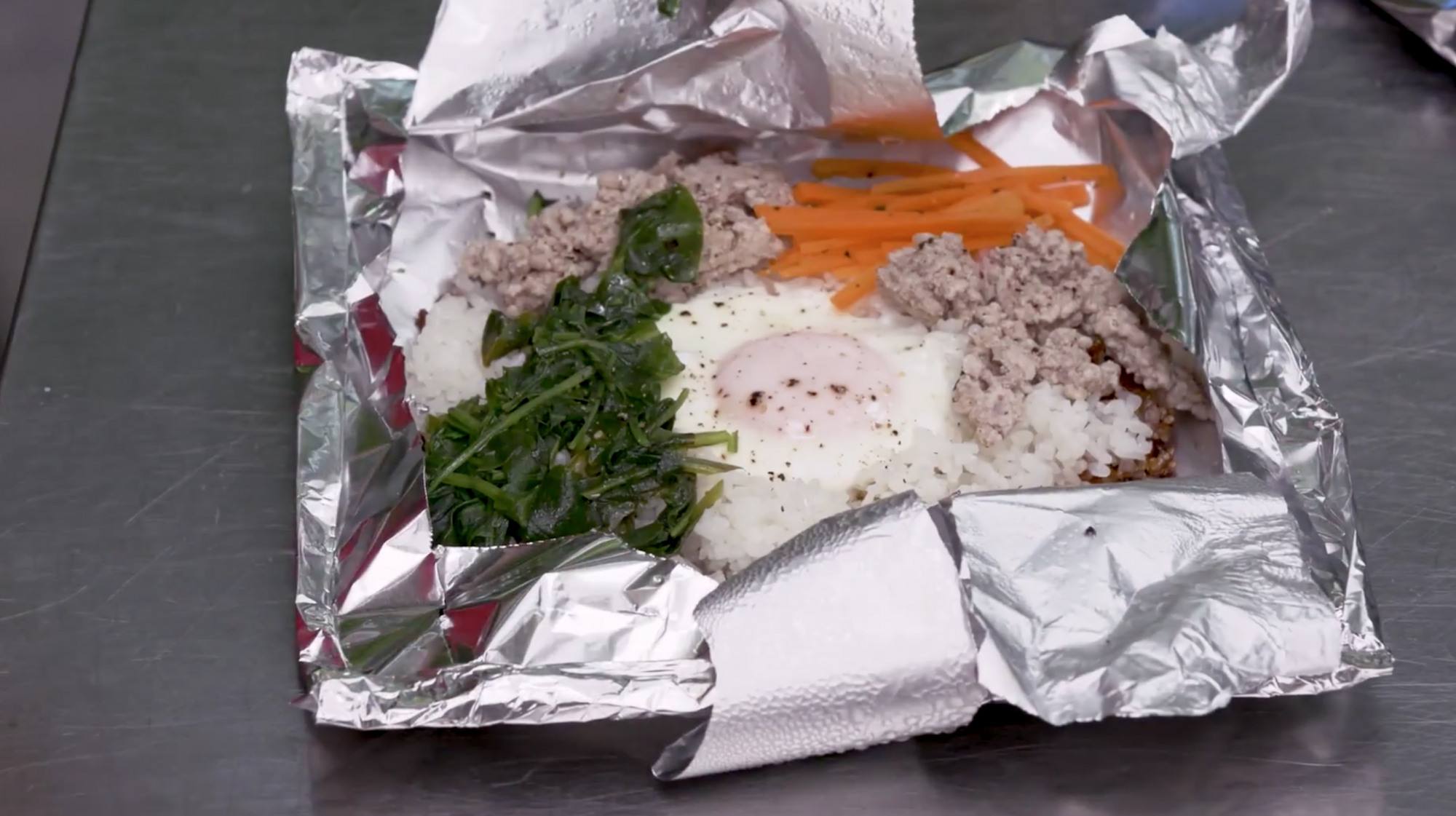 Make Bibimbap on the Grill with This Simple Foil Trick