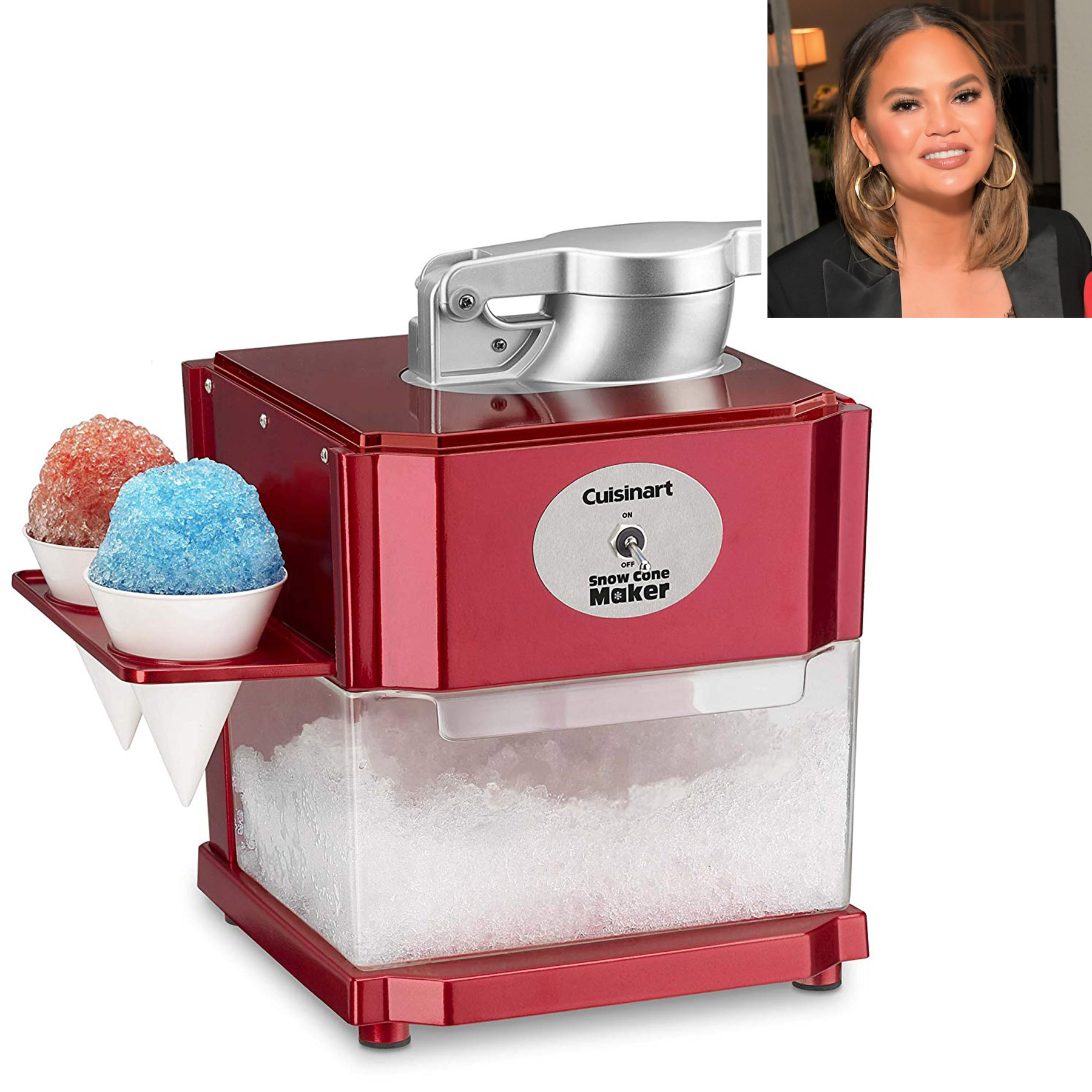 Chrissy Teigen Swears This Snow Cone Maker Is a 'Summer Must-Have'—and You Can Buy It on Amazon