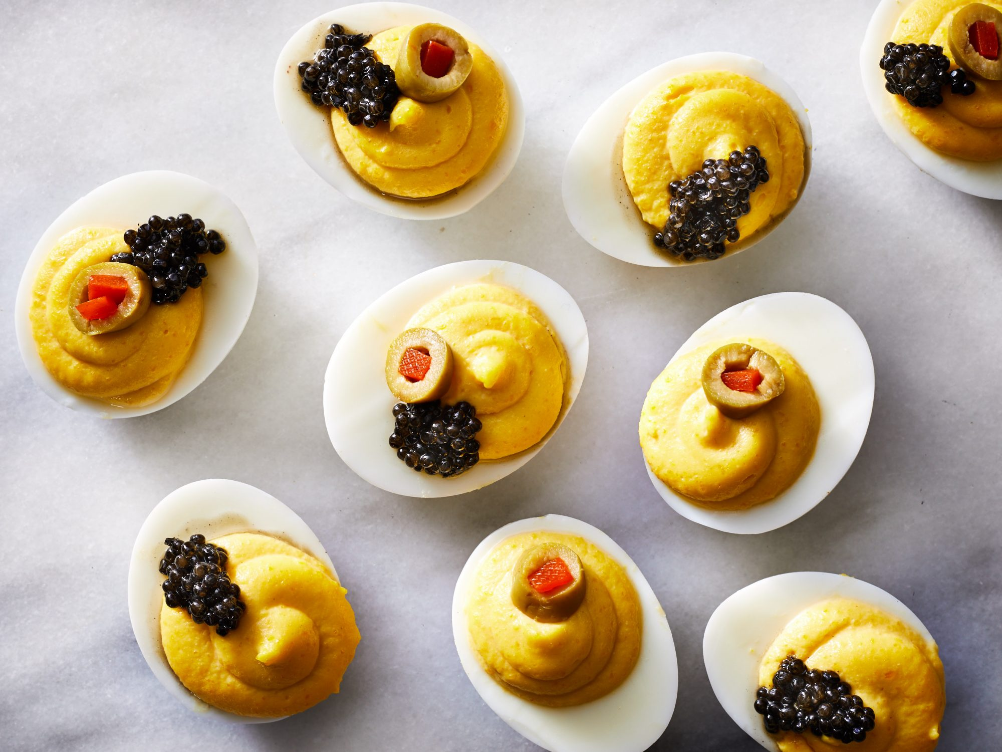 Caviar-Topped Deviled Eggs