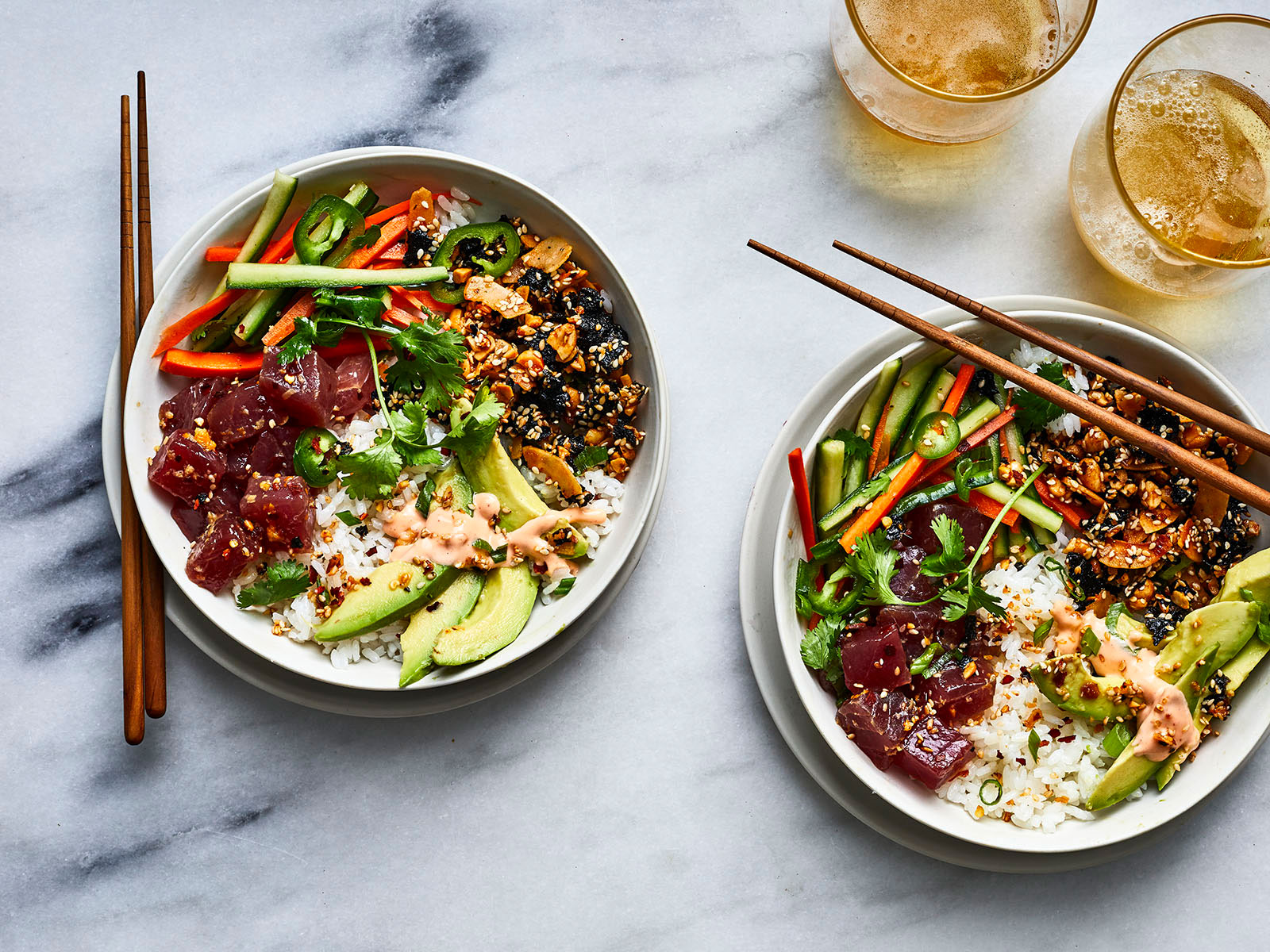 Loaded Poke Bowls with Furikake Granola