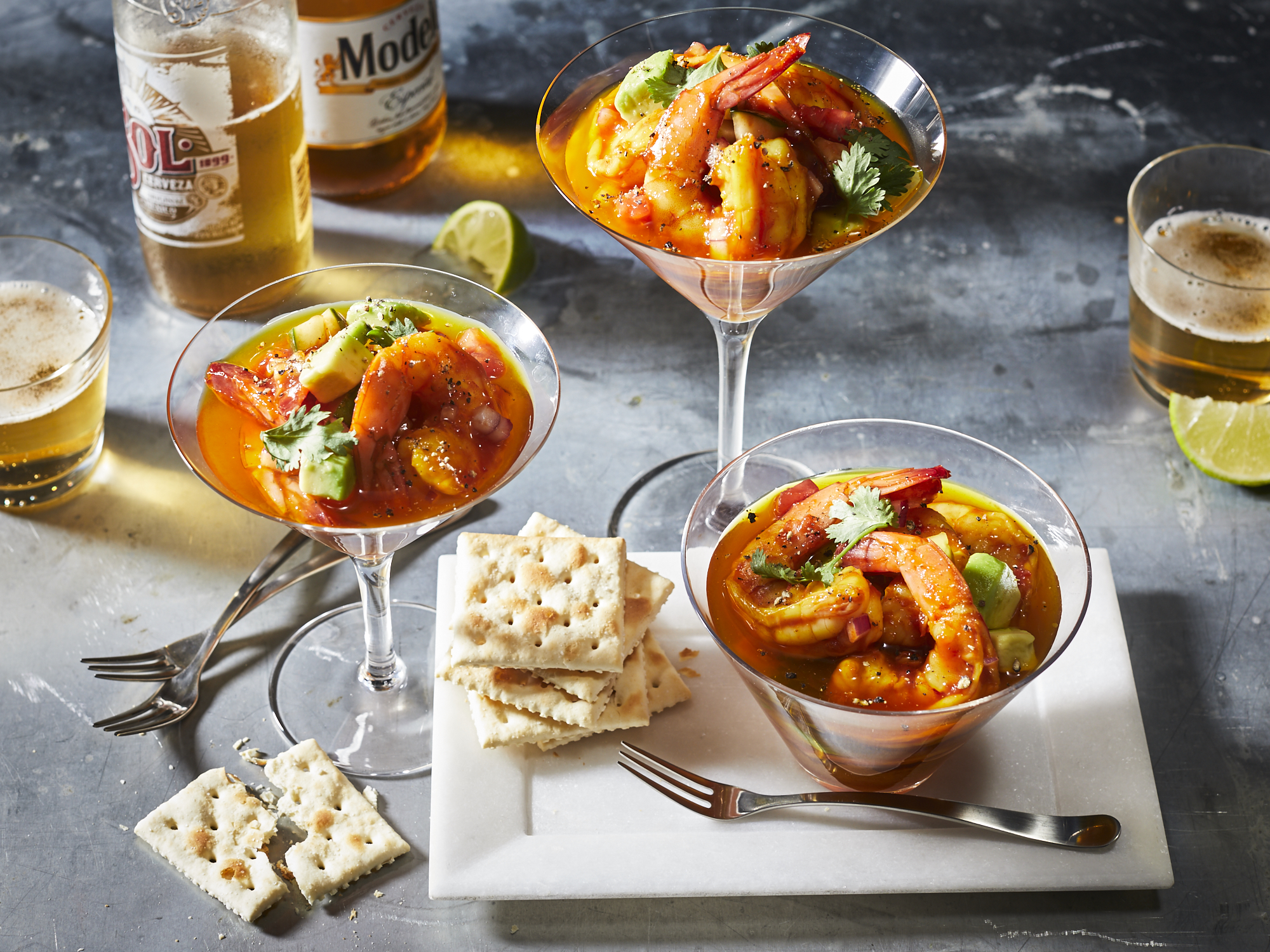 Mexican Shrimp Cocktail with Saffron