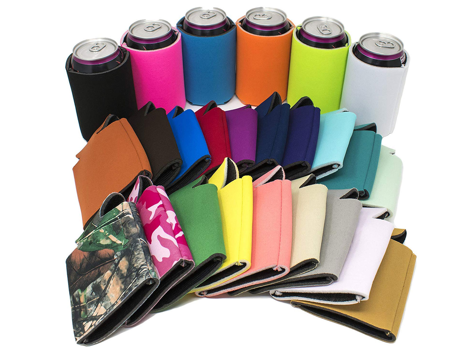 colorful koozies
