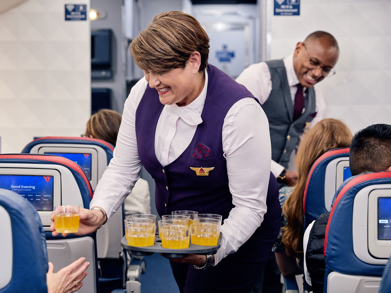 Delta Main Cabin Flyers Will Soon Get Free Bellinis on International Flights