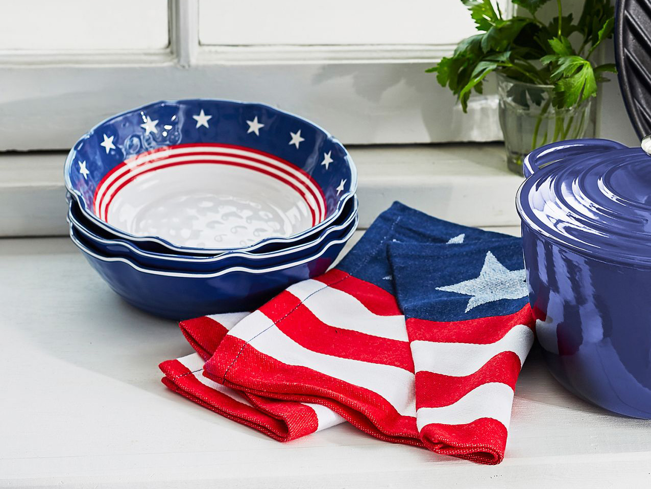 Stars & Stripes Melamine Cereal Bowl