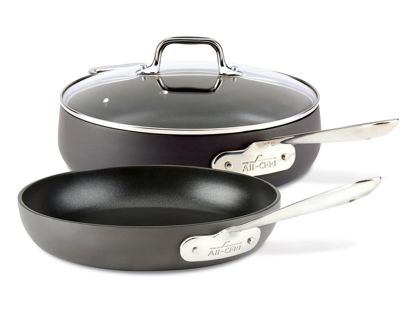 All-Clad HA1 Hard Anodized 3-Piece Sauté Pan Set