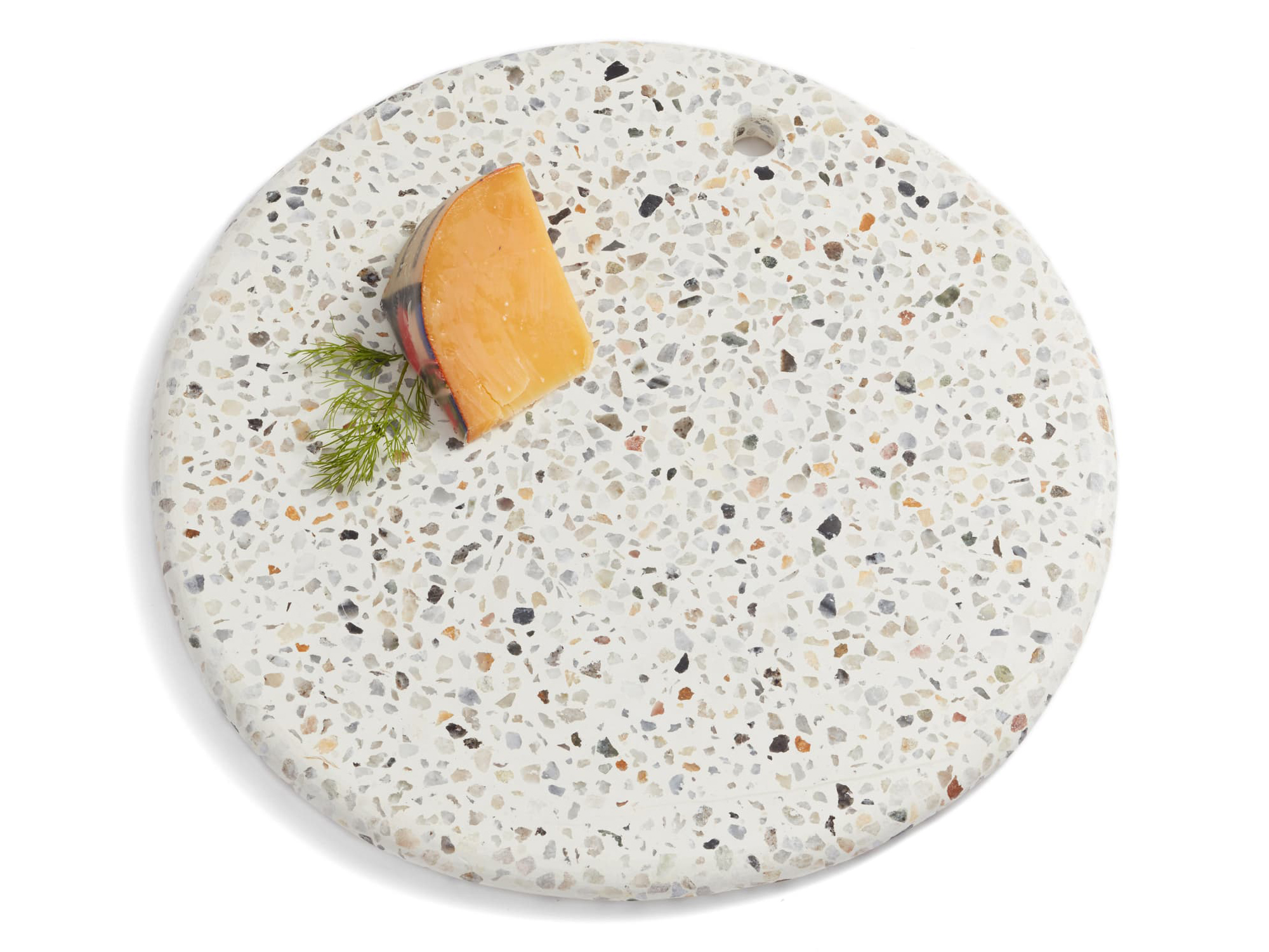 Treasure & Bond Round Terrazzo Marble Serving Board