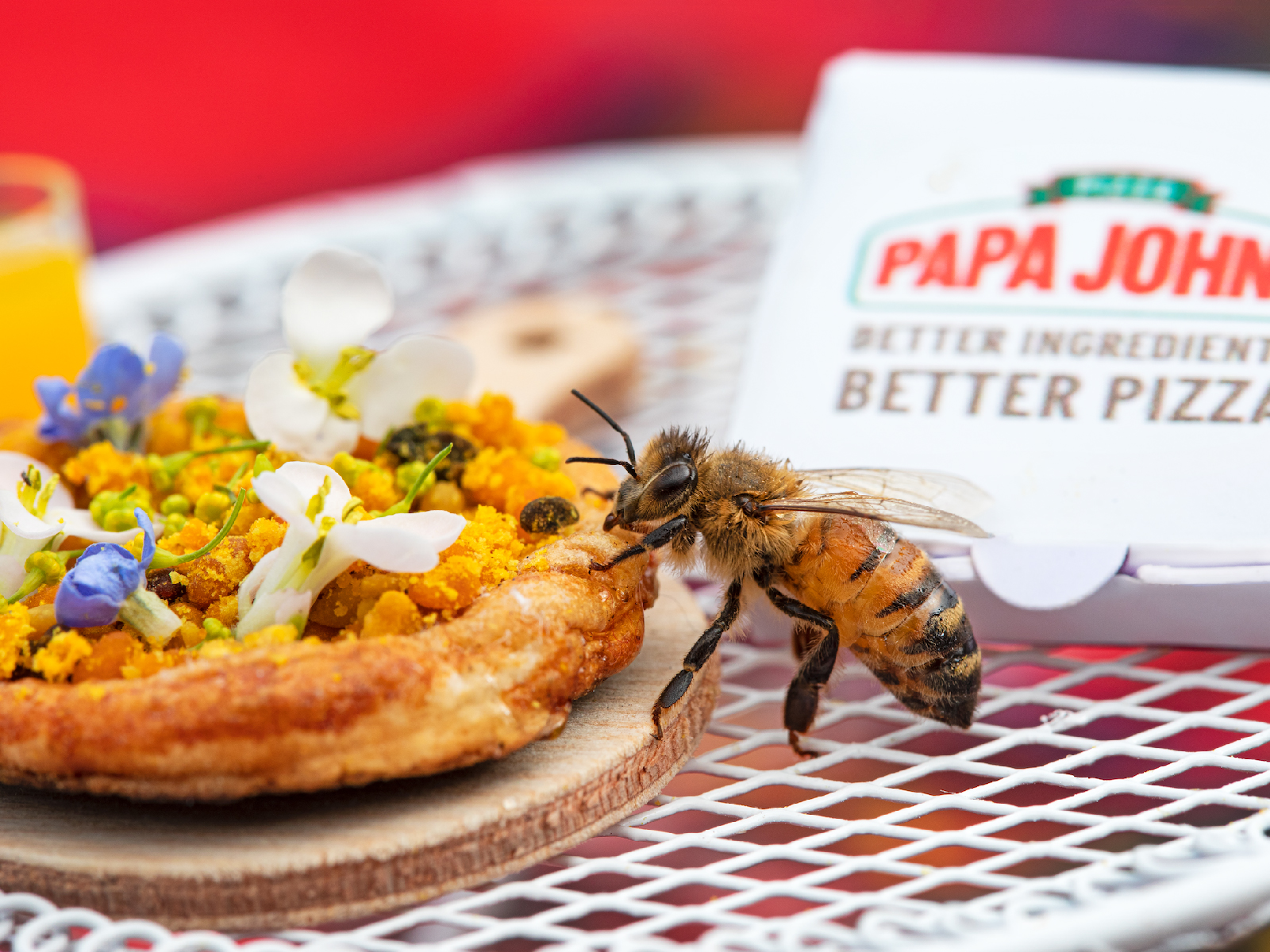 Papa John's Created a Tiny Pizza for Bees