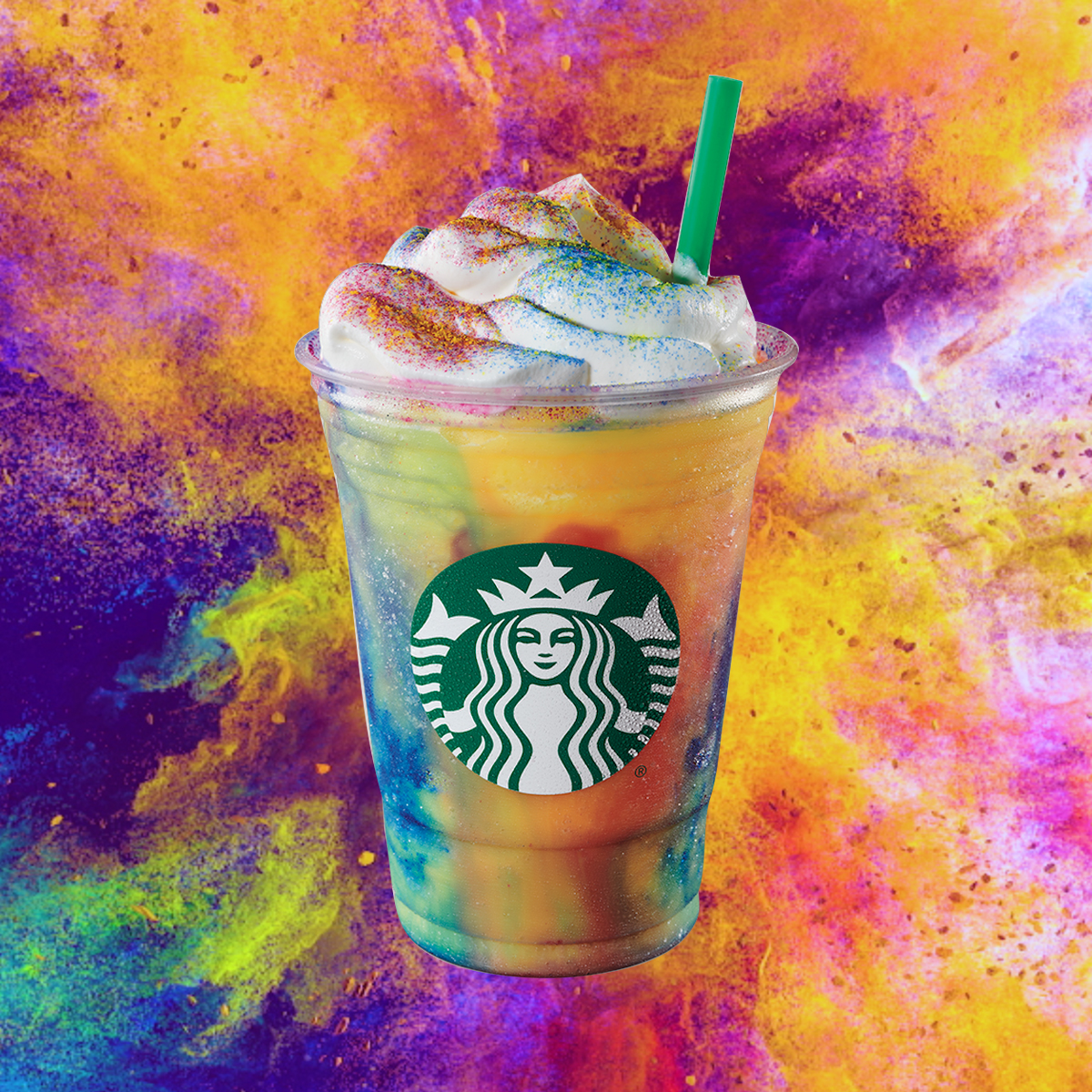 Starbucks Tie-Dyed a Frappuccino for Summer