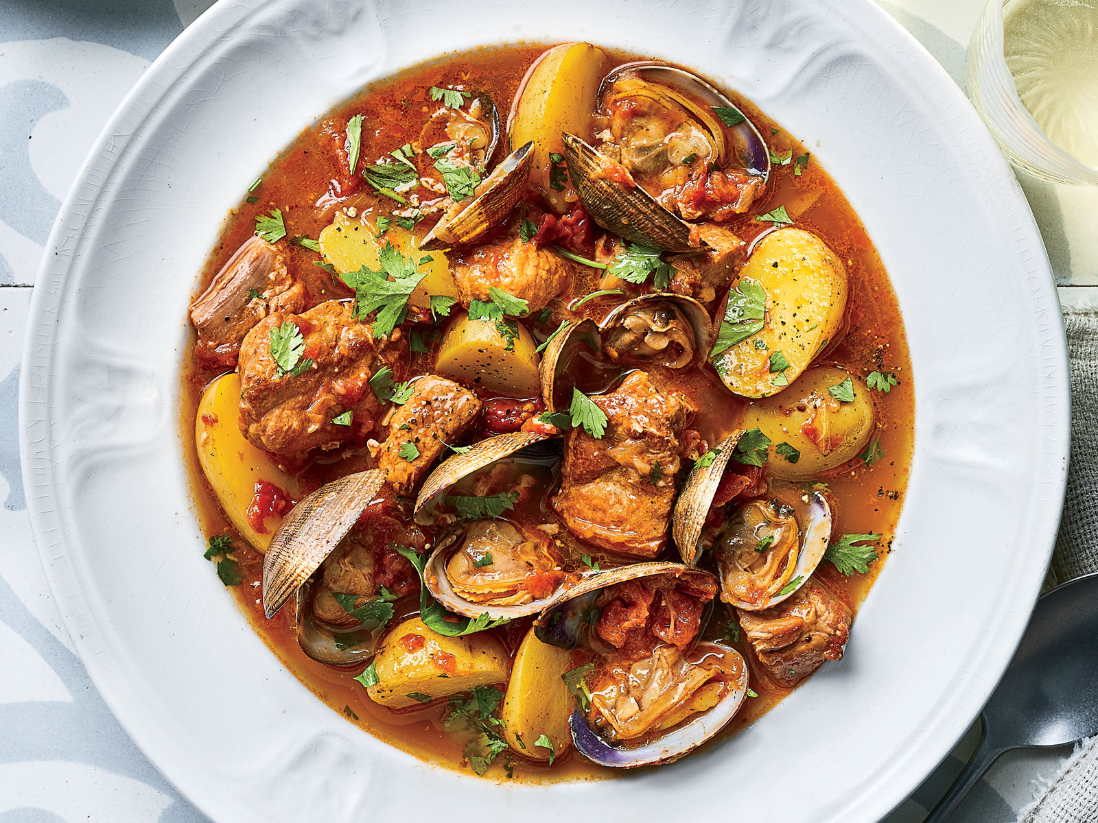 Portugese Braised Pork and Clams
