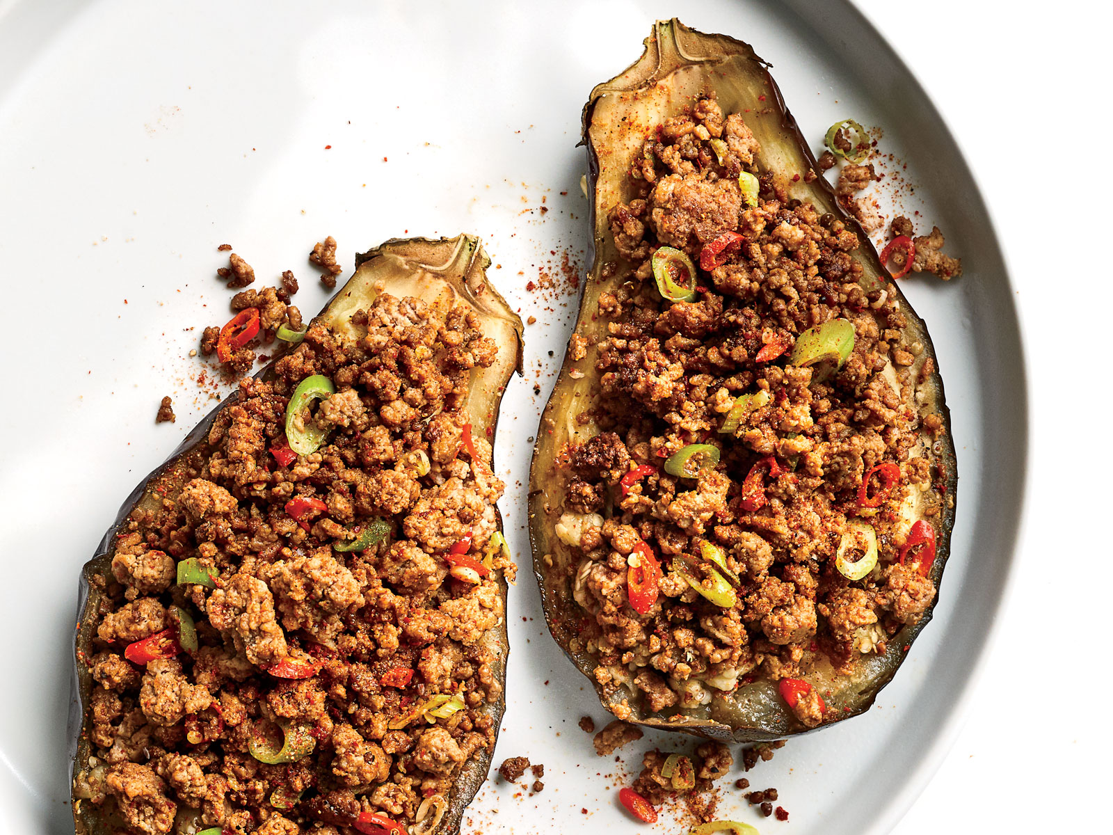 Yunnan Style Spicy Pork Stuffed Eggplant