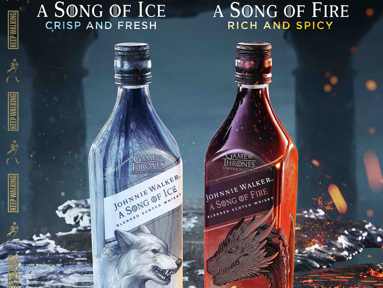 Johnnie Walker Releases Two More 'Game of Thrones' Whiskies