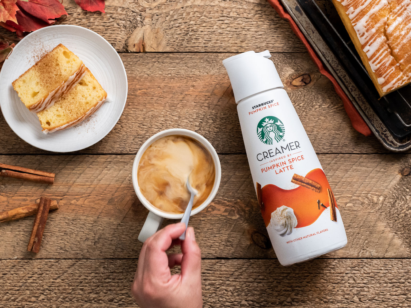 Starbucks Kicks Off PSL Season Early with New Pumpkin Spice Creamer