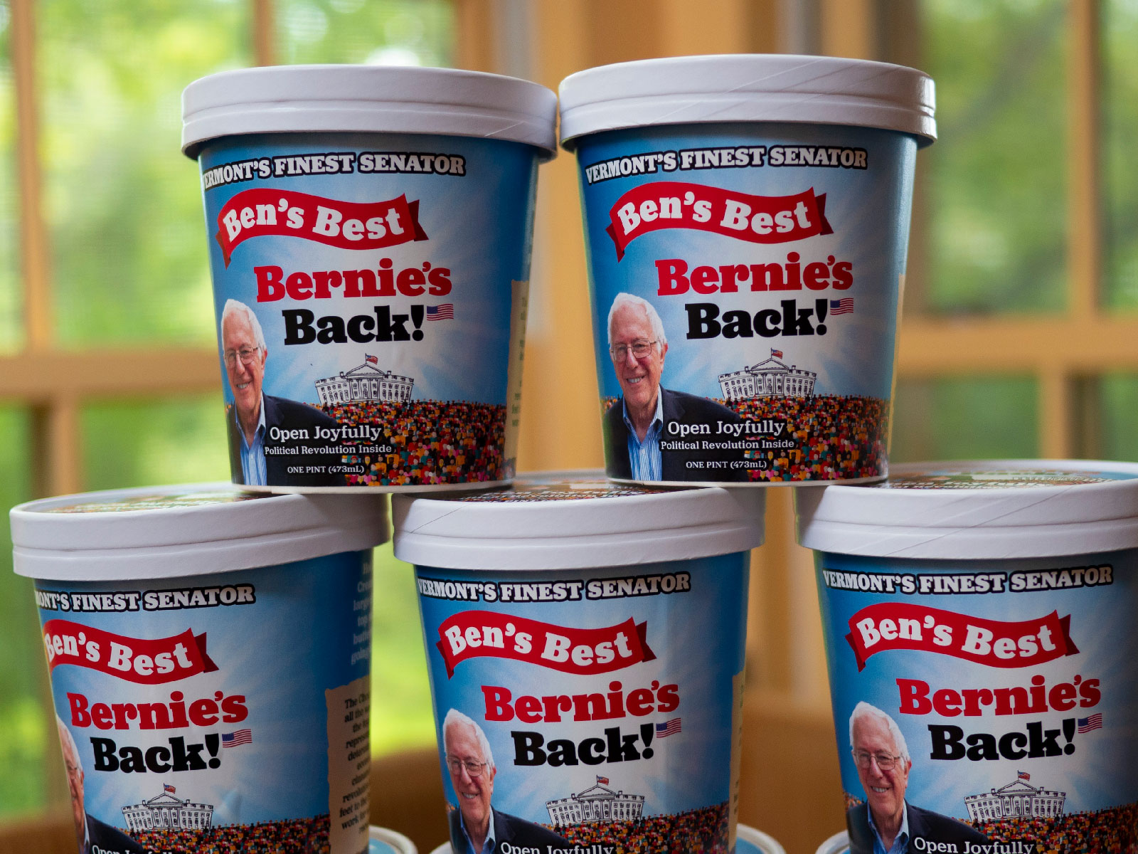 Bernie Sanders Will Get 'a Full Line' of Homemade Ice Cream Flavors for 2020