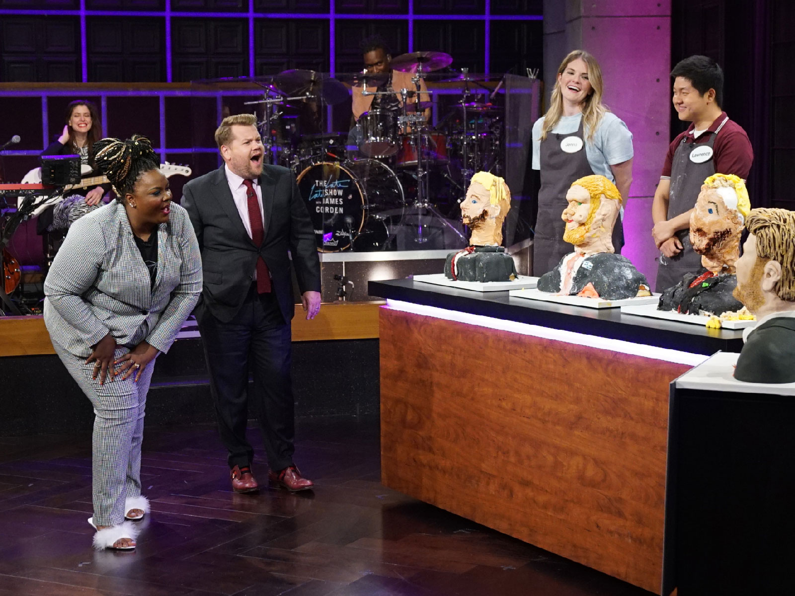Watch: 'Nailed It!' Host Nicole Byer Judged James Corden Lookalike Cakes on 'The Late Late Show'