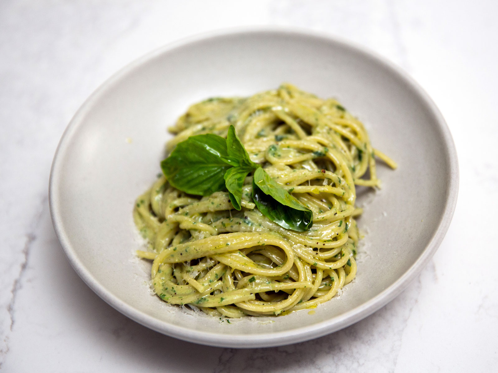 This Creamy, Indulgent Basil Pasta Is Ready in Just 10 Minutes