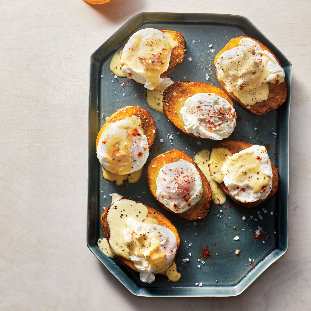 Potatoes Benedict with Make-Ahead Poached Eggs