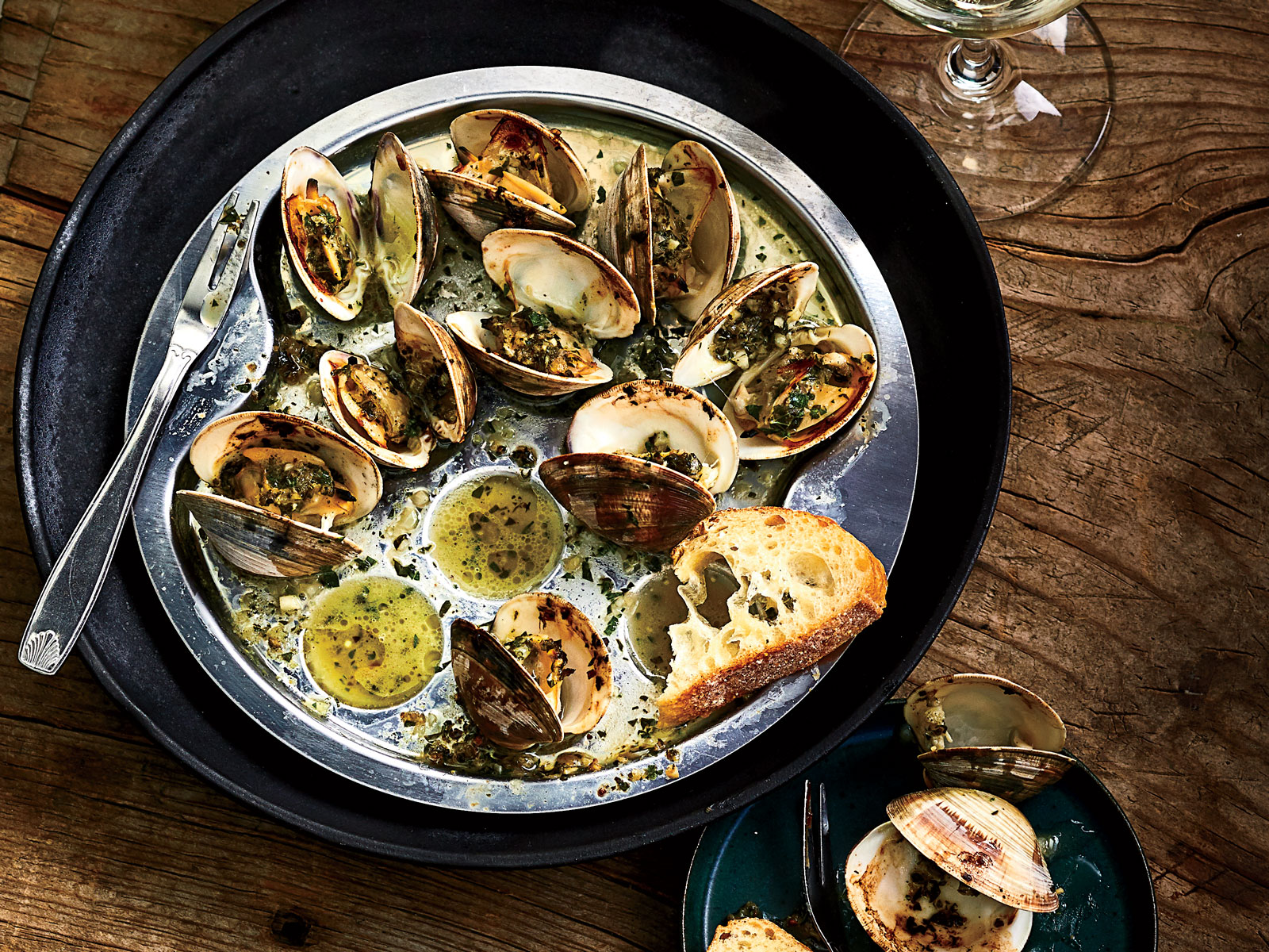 Littleneck Clams in the Style of Escargot Recipe