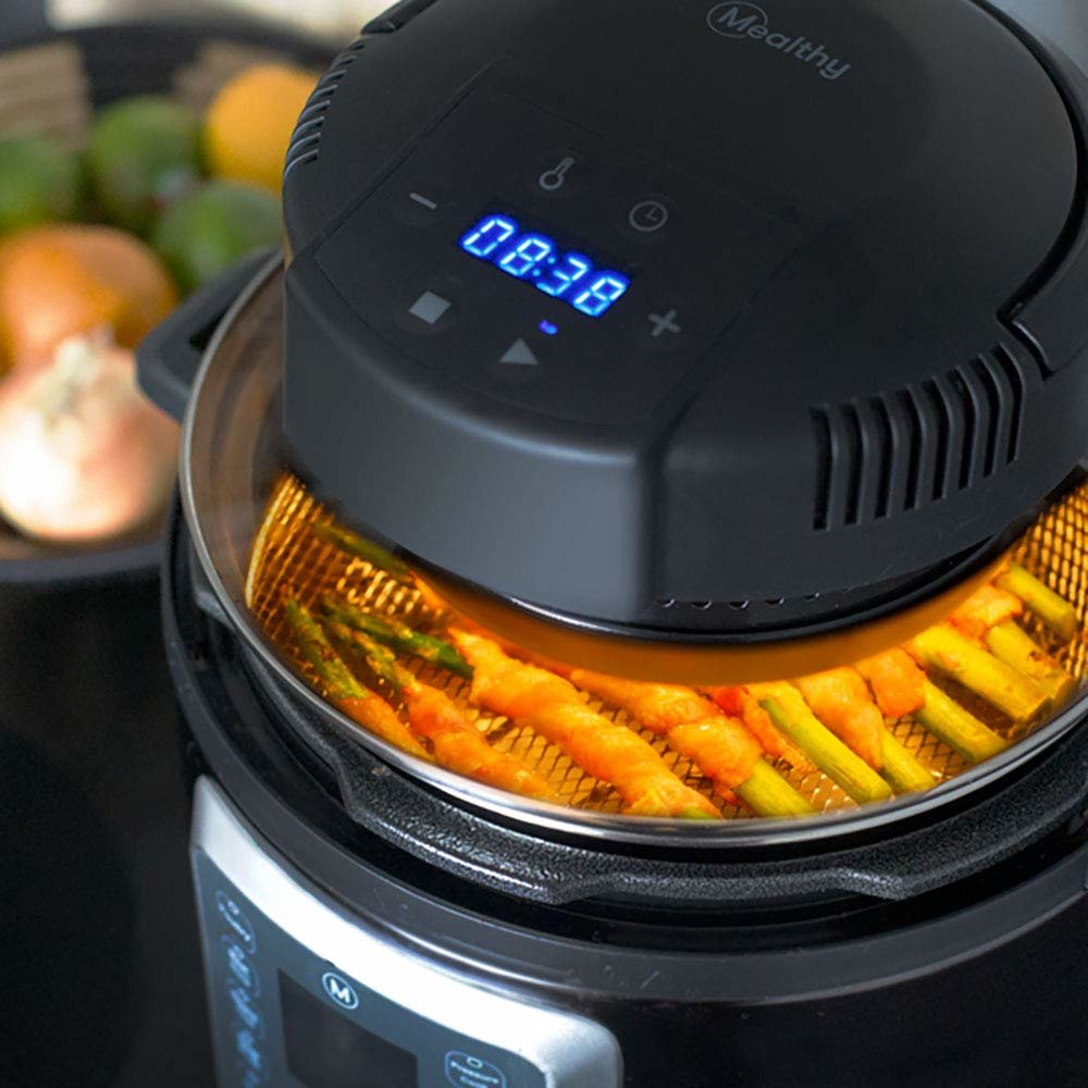 This Brilliant Pressure Cooker Lid Transforms Your Instant Pot Into an Air Fryer