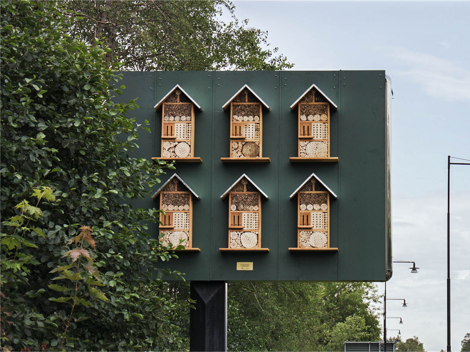 McDonald's Sweden Is Putting Beehives in Billboards