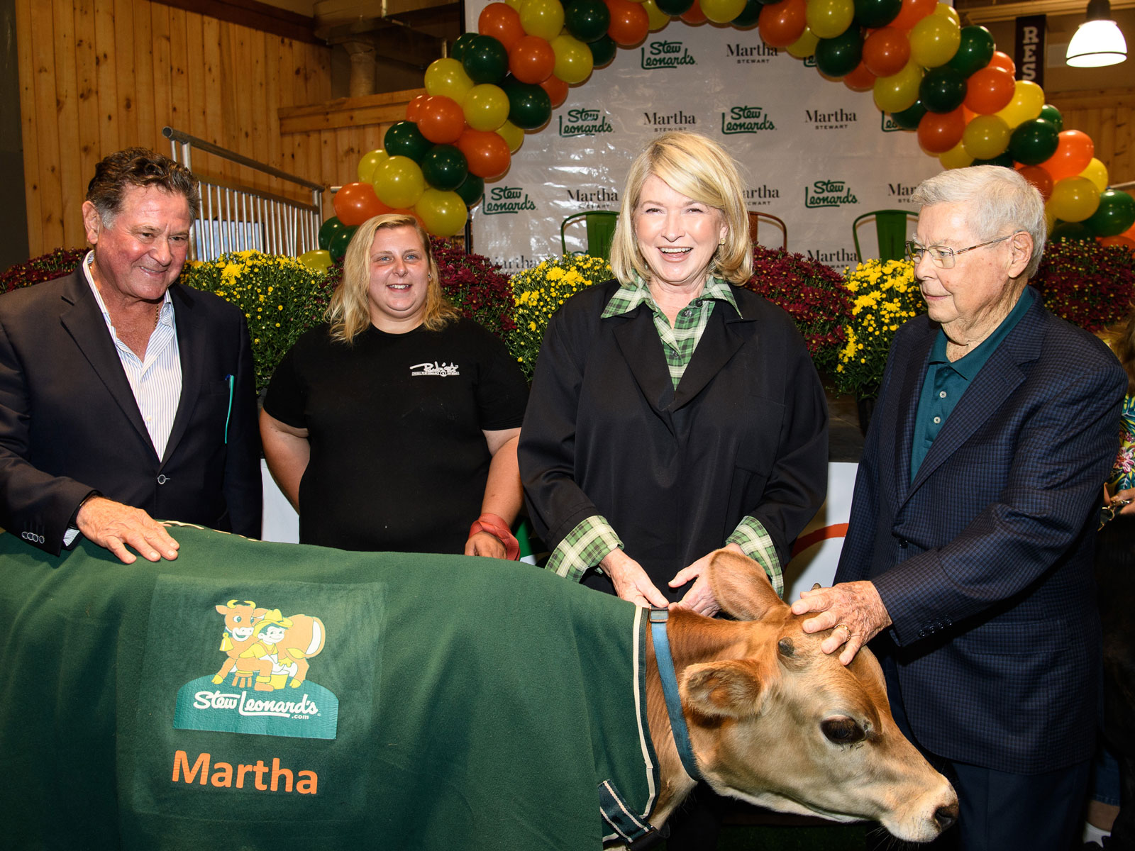 Martha Stewart Got to Meet Her Namesake Cow at a Stew Leonard's