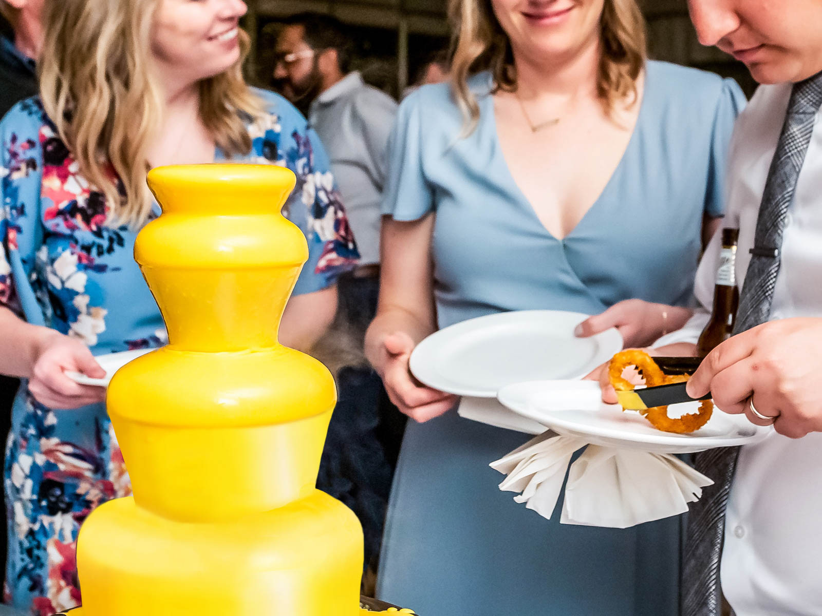 Portillo's Will Cater Your Wedding with a Cheese Sauce Fountain and Plenty of Hot Dogs