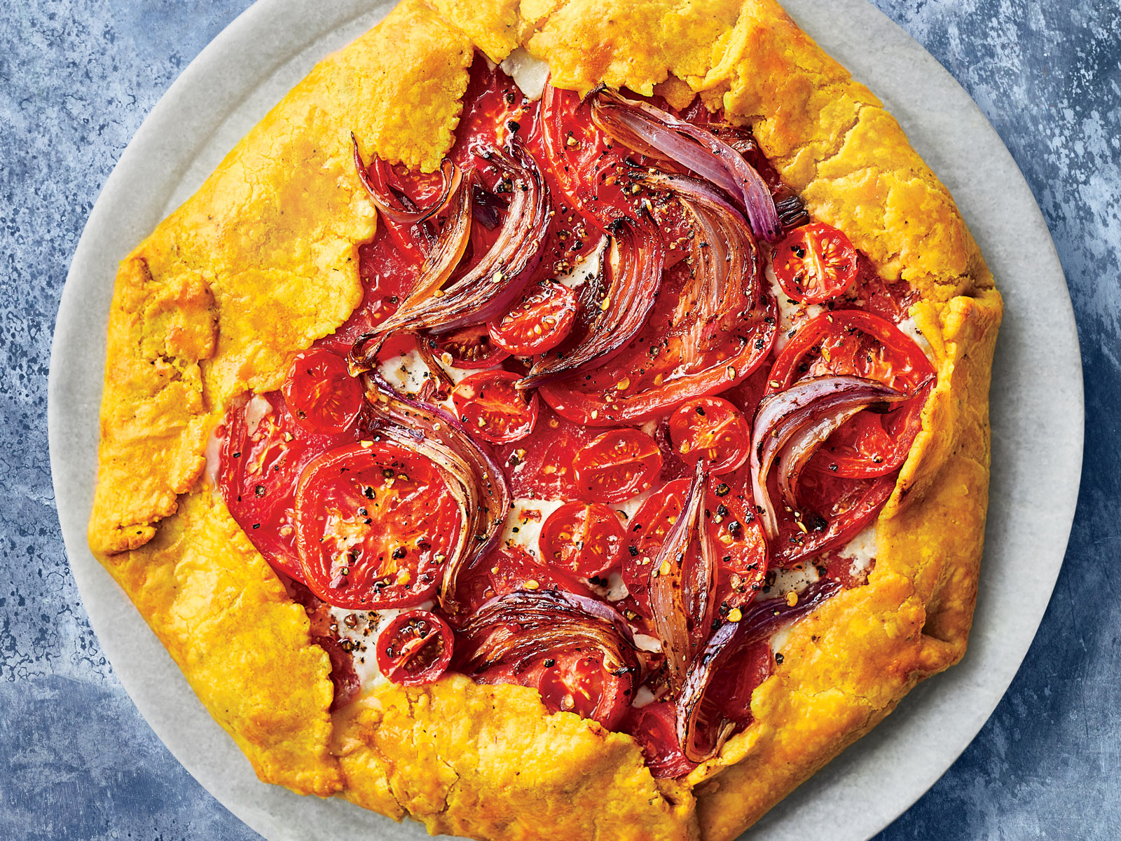 Roasted Curry Tomato Pie