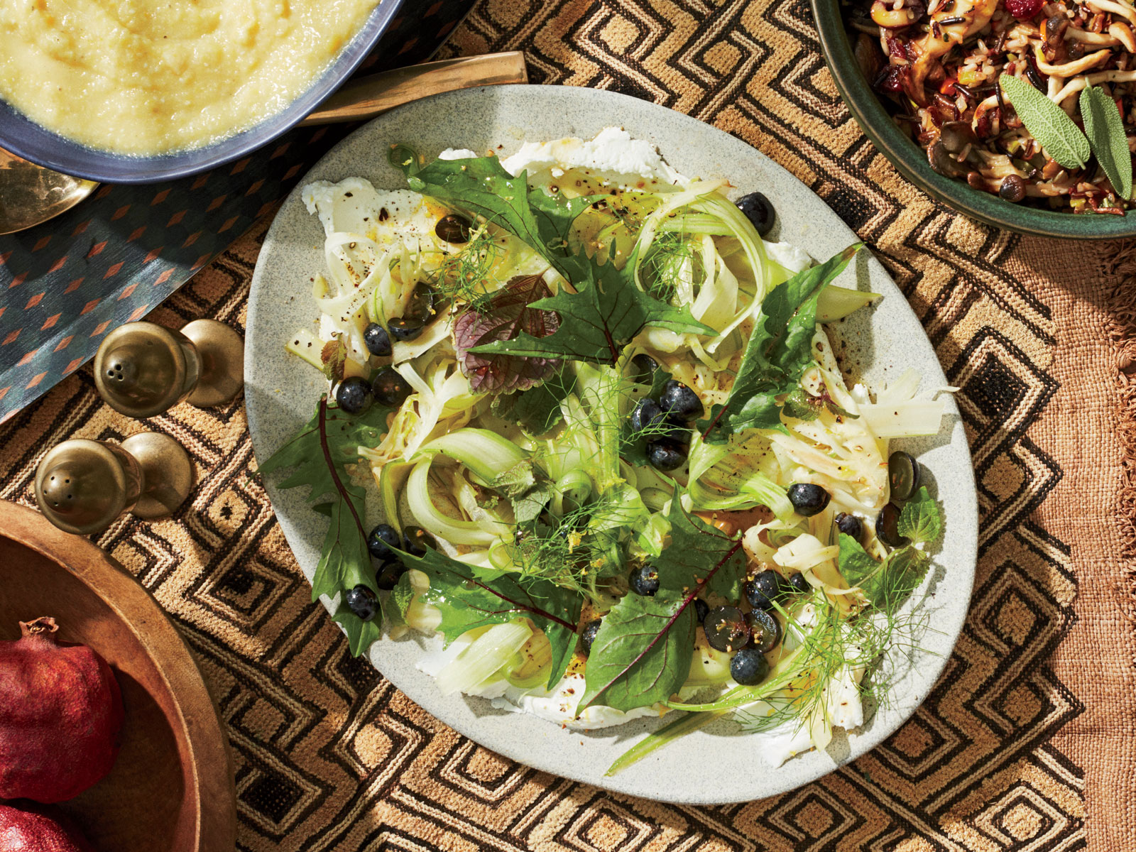 Shaved Celery and Fennel Salad with Pickled Grapes Recipe