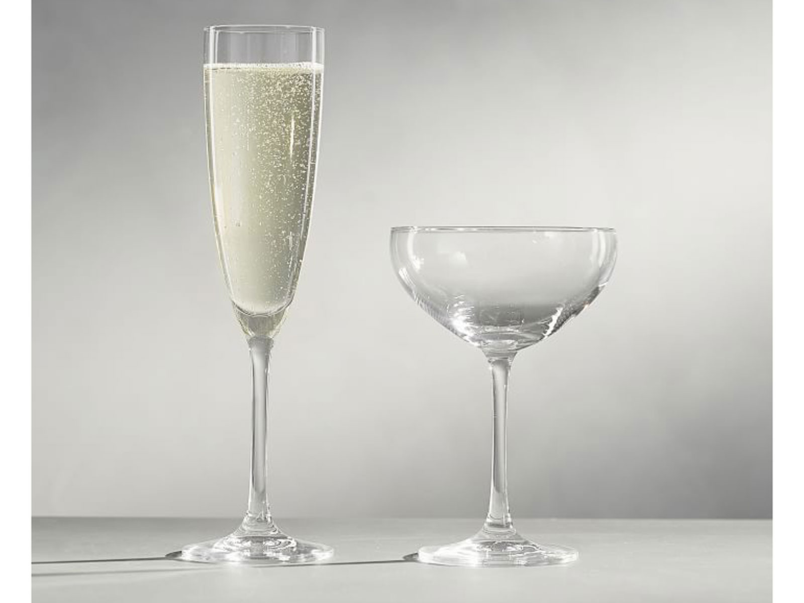 champagne coupe and flute