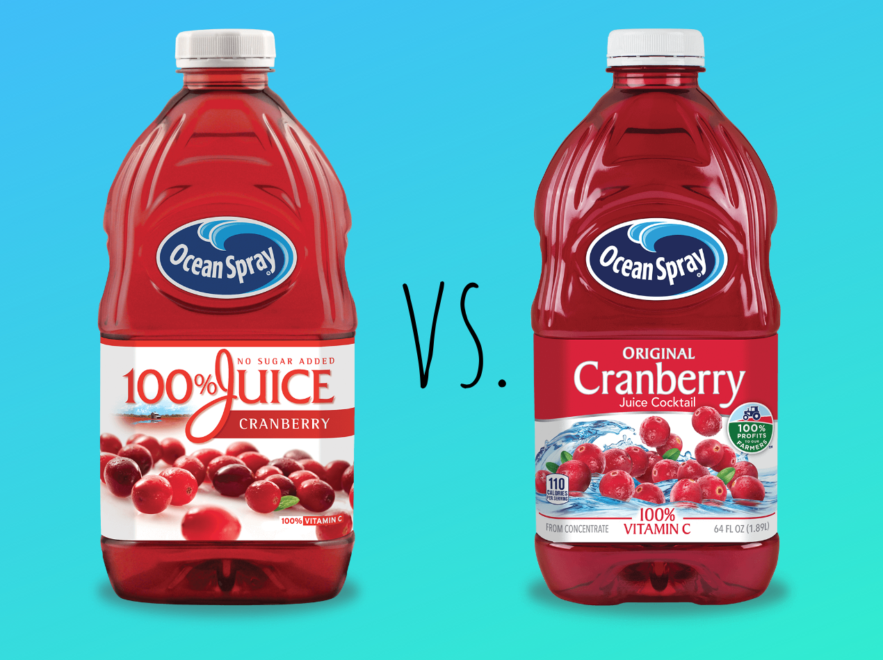 Cranberry Juice vs. Cranberry Cocktail: What's the Difference?