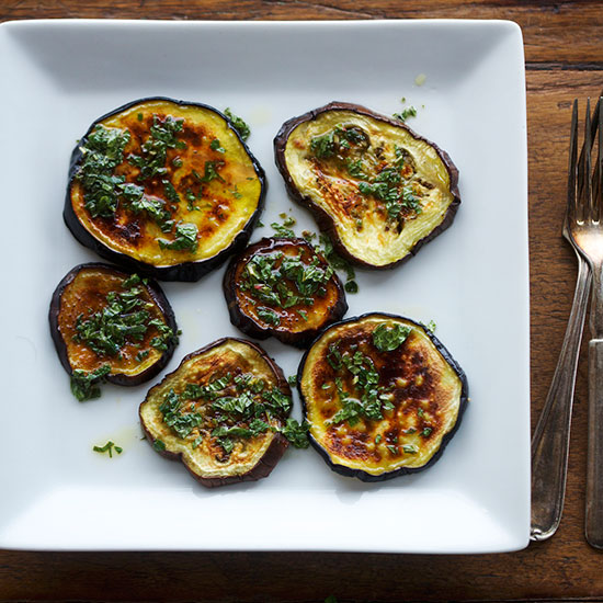 Broiled Eggplant with Mint Vinaigrette