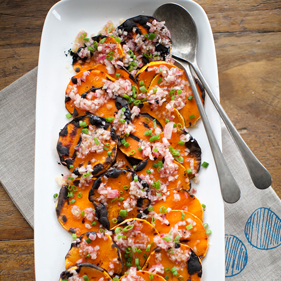 Grilled Butternut Squash with Shallot Vinaigrette