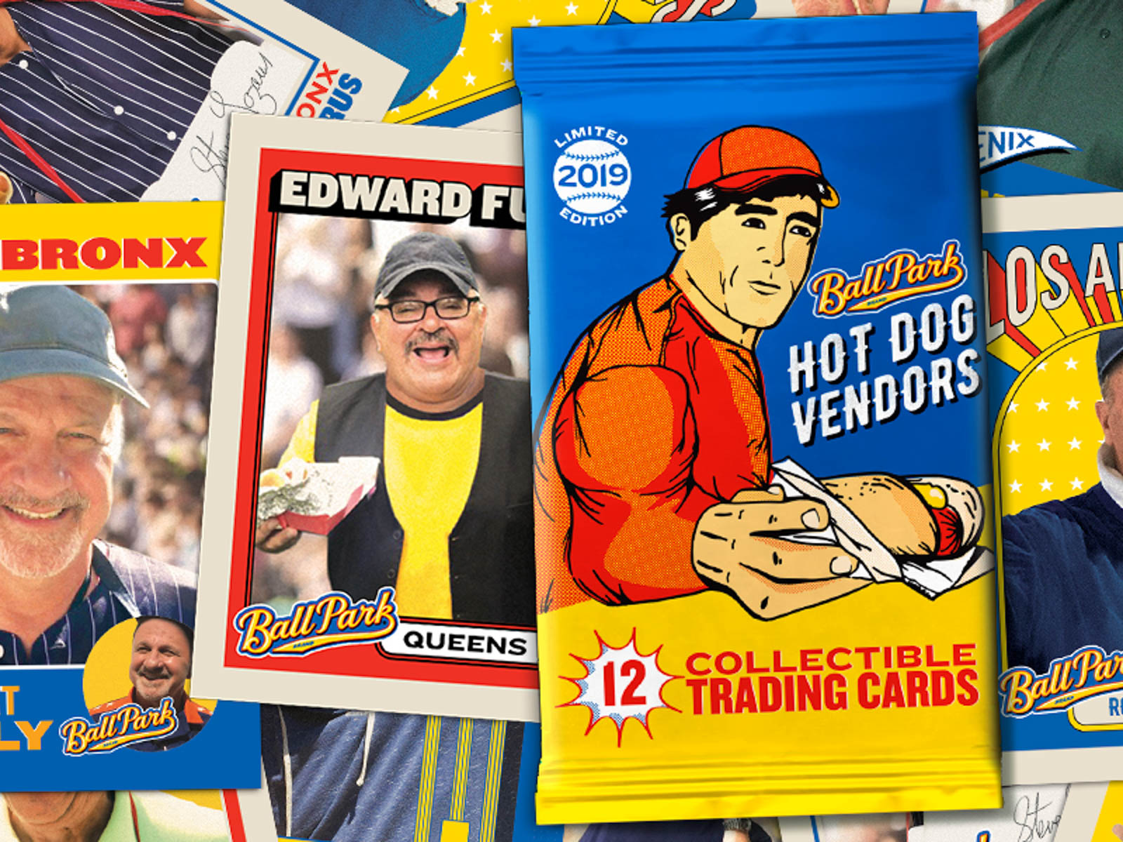 Ball Park Hot Dog Vendor Baseball Cards