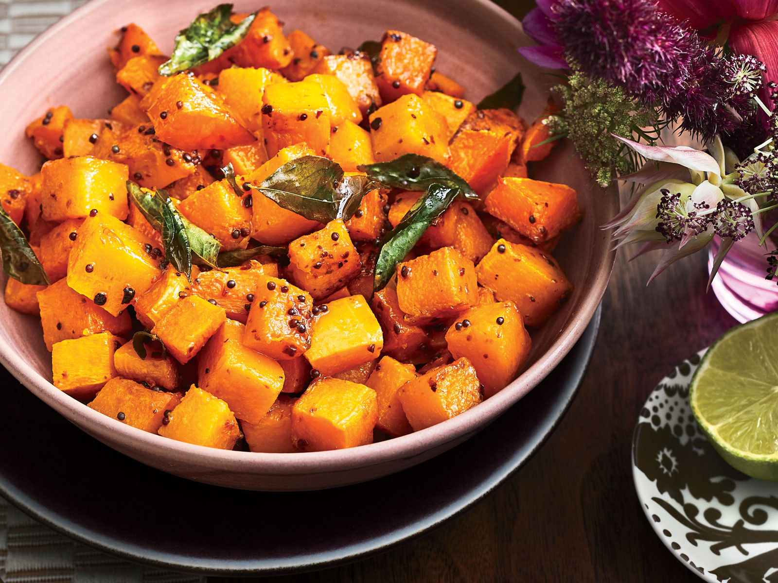 Roasted Butternut Squash with Curry Leaves Recipe