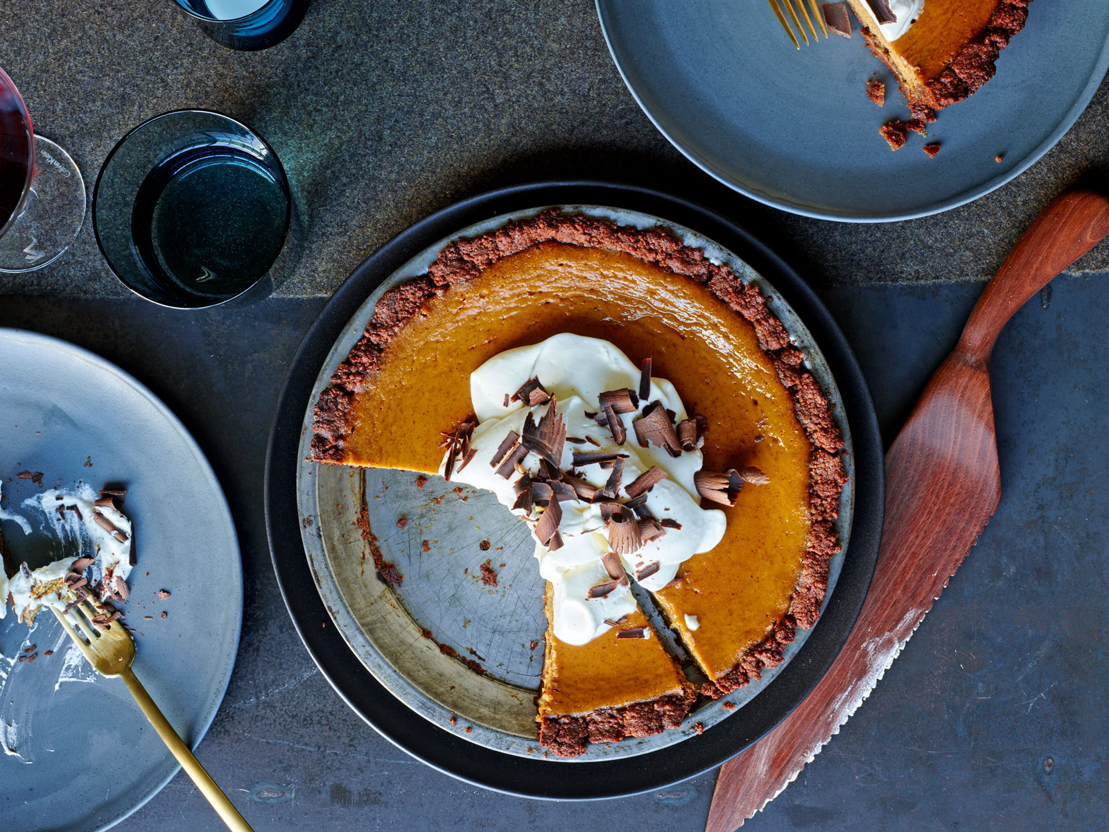 Chocolate Pumpkin Cream Pie