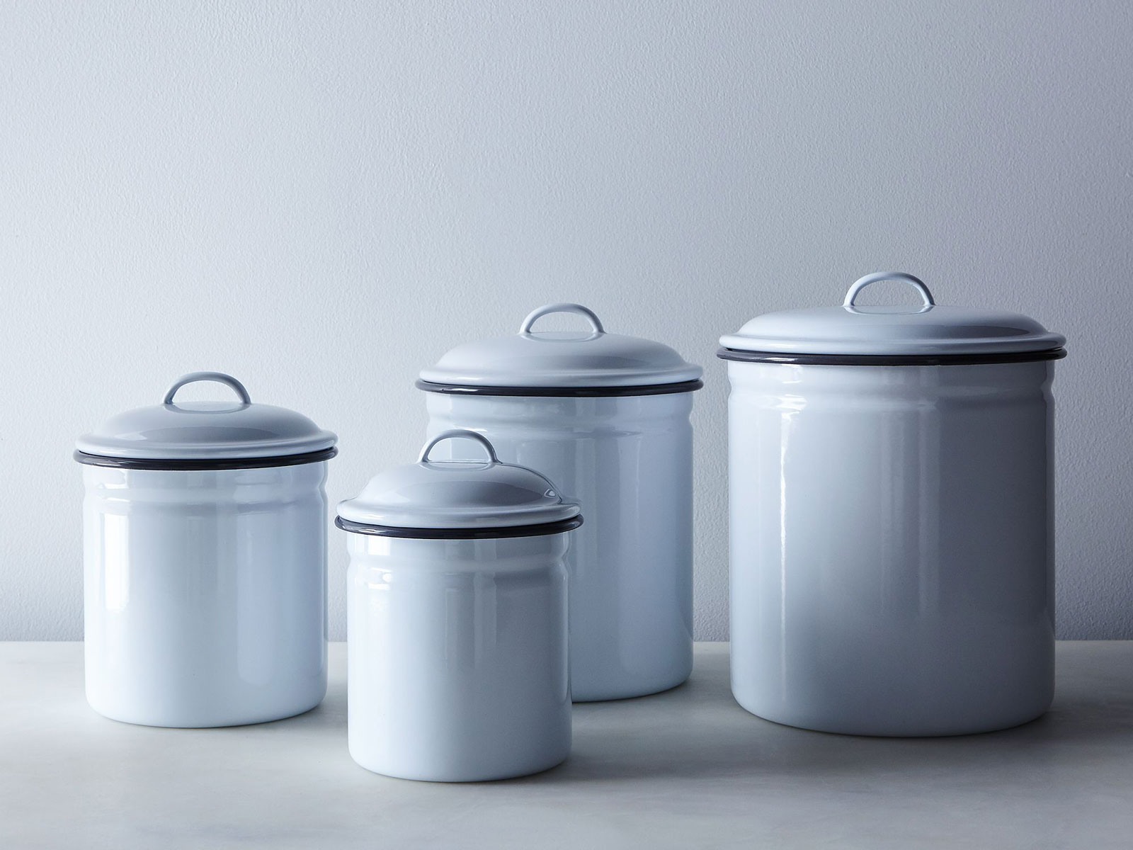 Enamelware Dry Good Cannisters