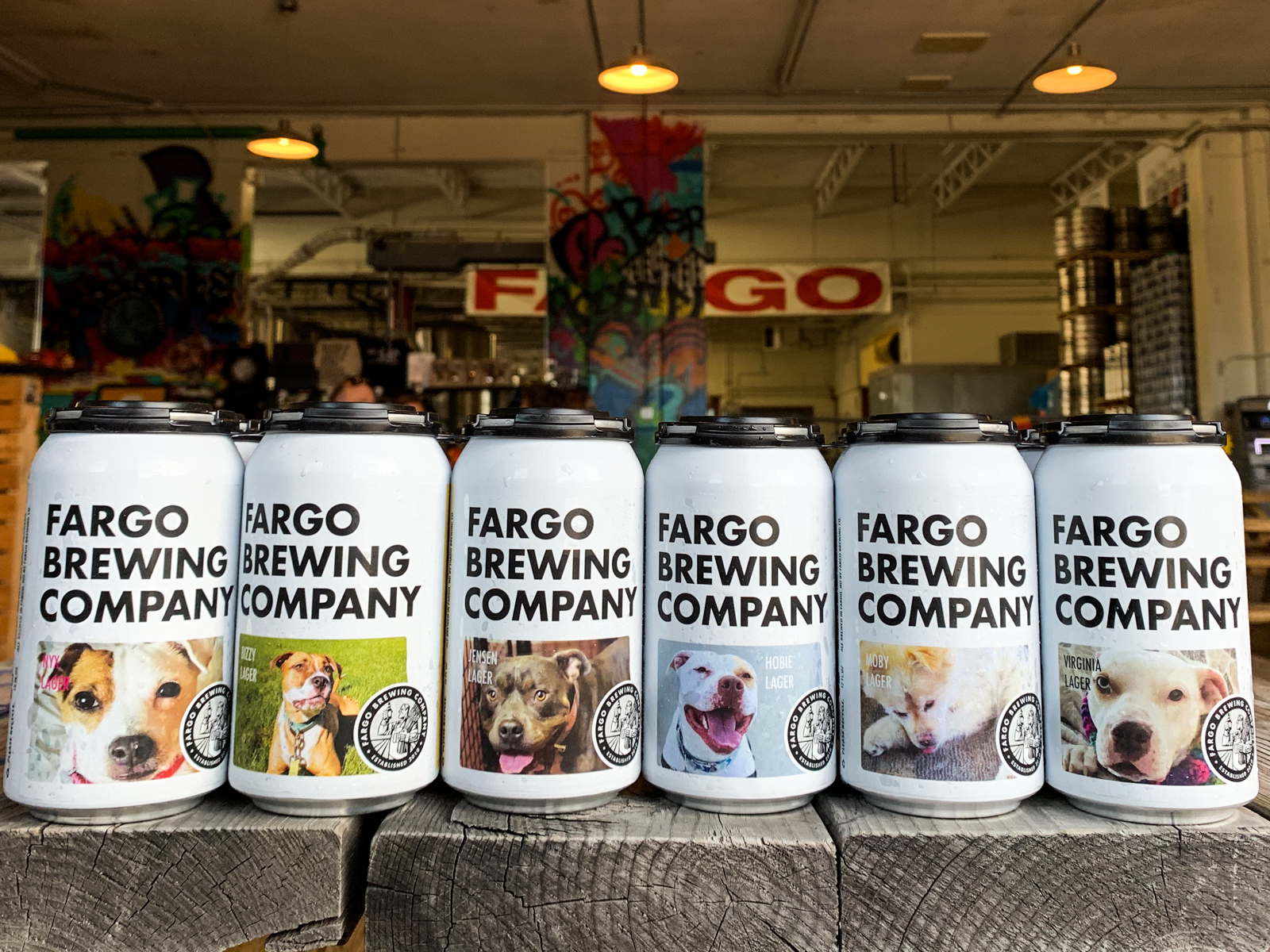 Fargo Brewing Company Shelter Dog Beer Cans