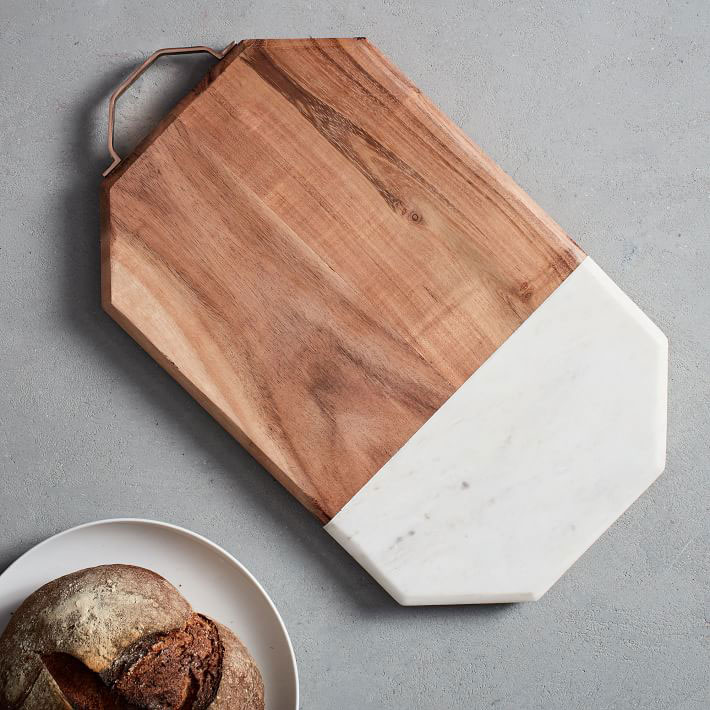 Marble and Wood Cutting Board