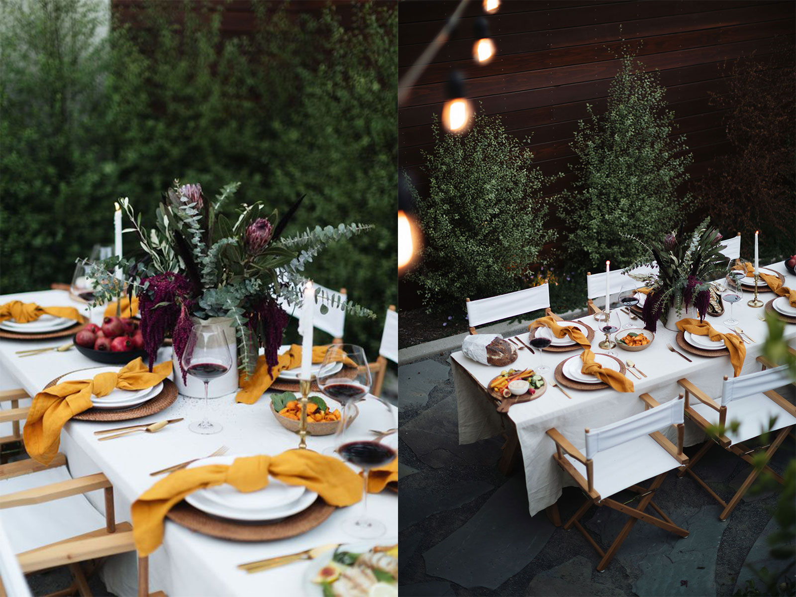 california luxe dinner table