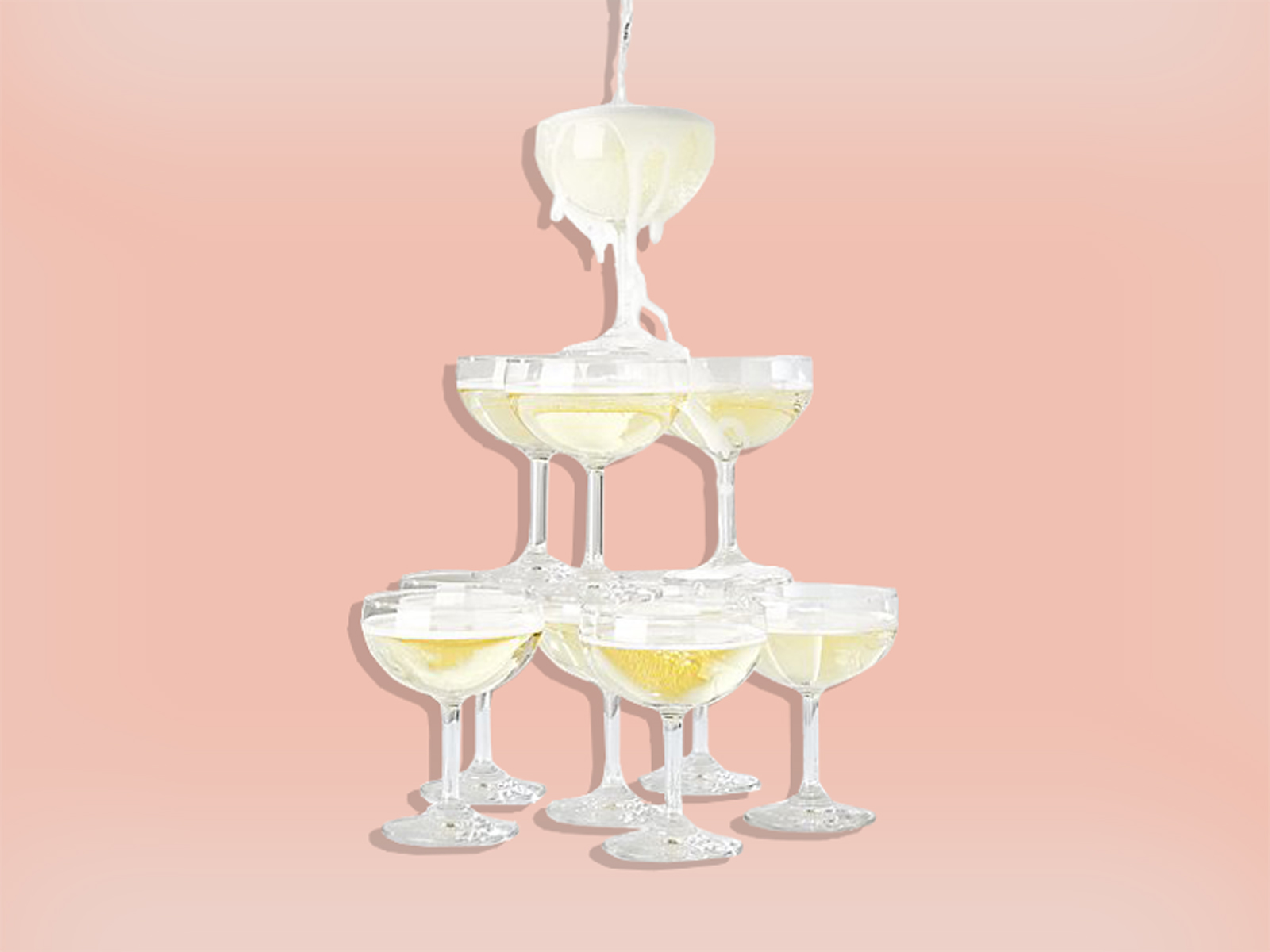 Crate & Barrel Champagne Tower