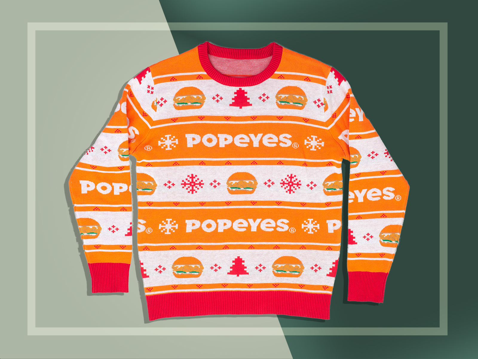 The Popeyes Chicken Sandwich Is Now an Ugly Christmas Sweater