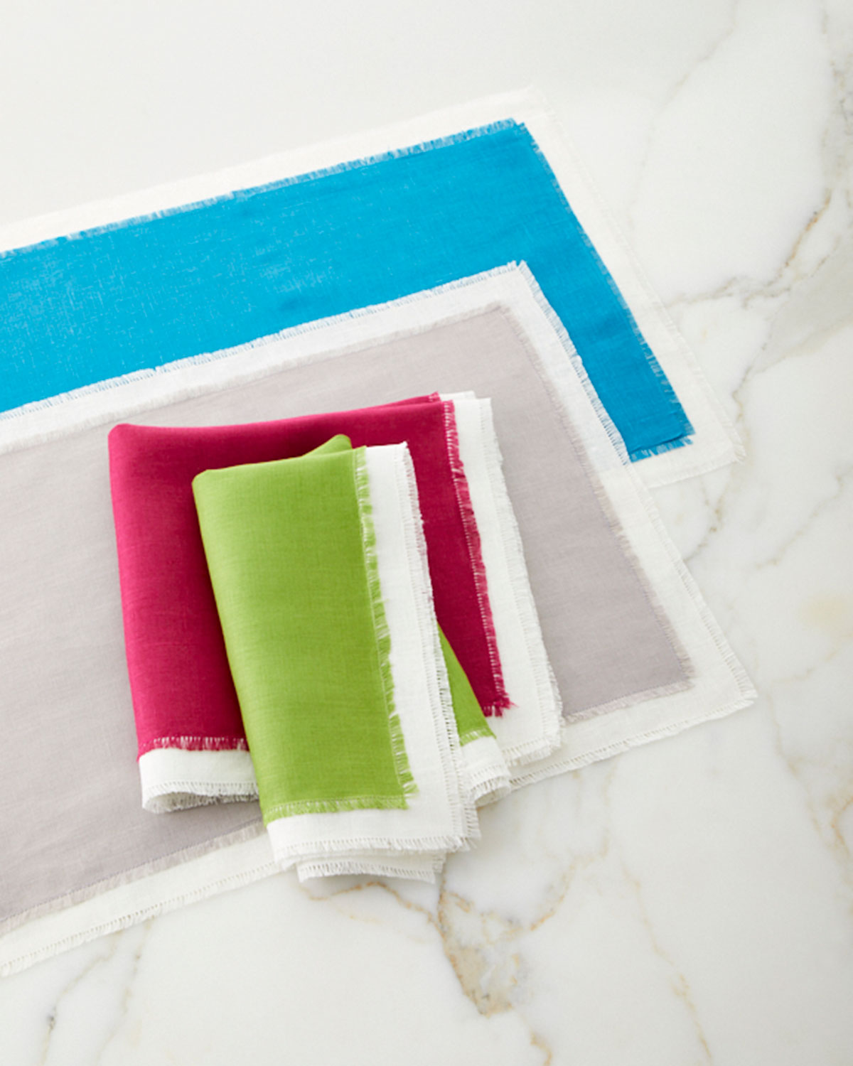 color blocked napkins