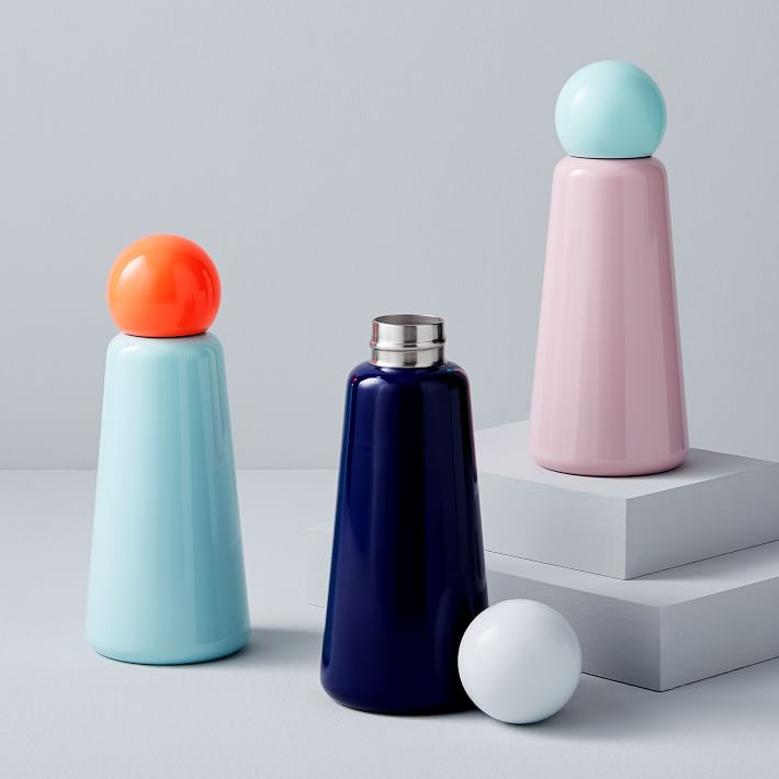 color blocked water bottle