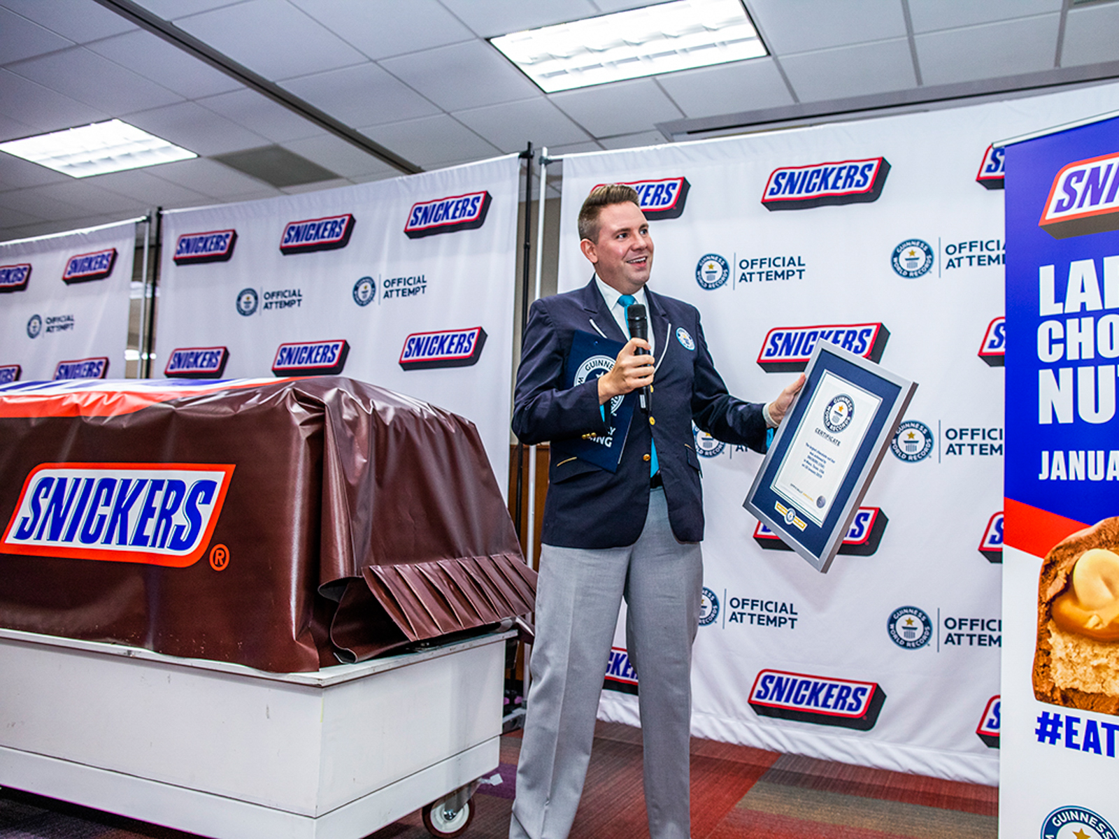 The Largest Snickers Bar in the World Weighs Over Two Metric Tons