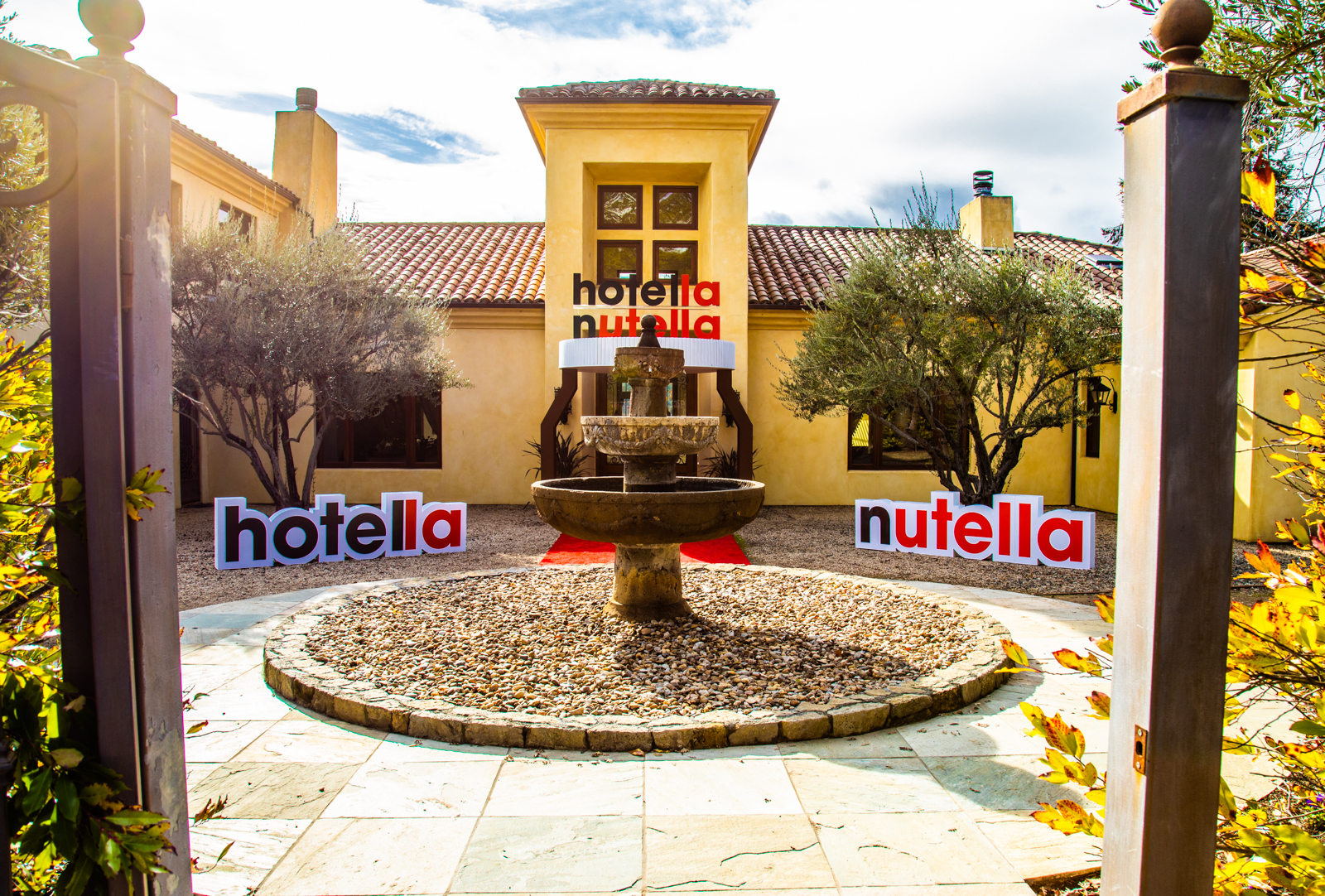 Inside the Nutella Hotel in Napa Valley