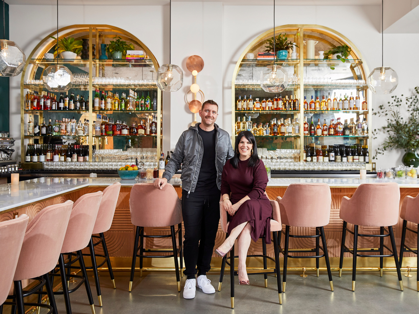 Red Herring's Chef David Woodall and Alexis Martin Woodall